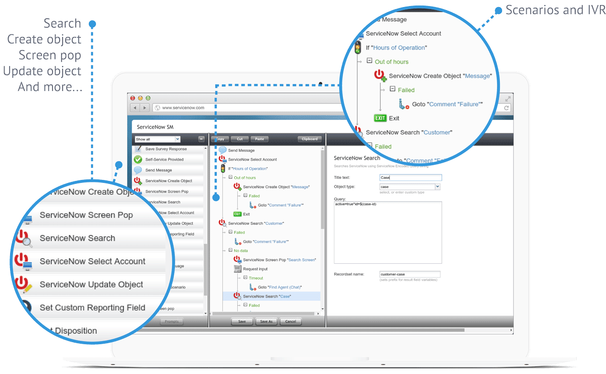 ServiceNow screen third
