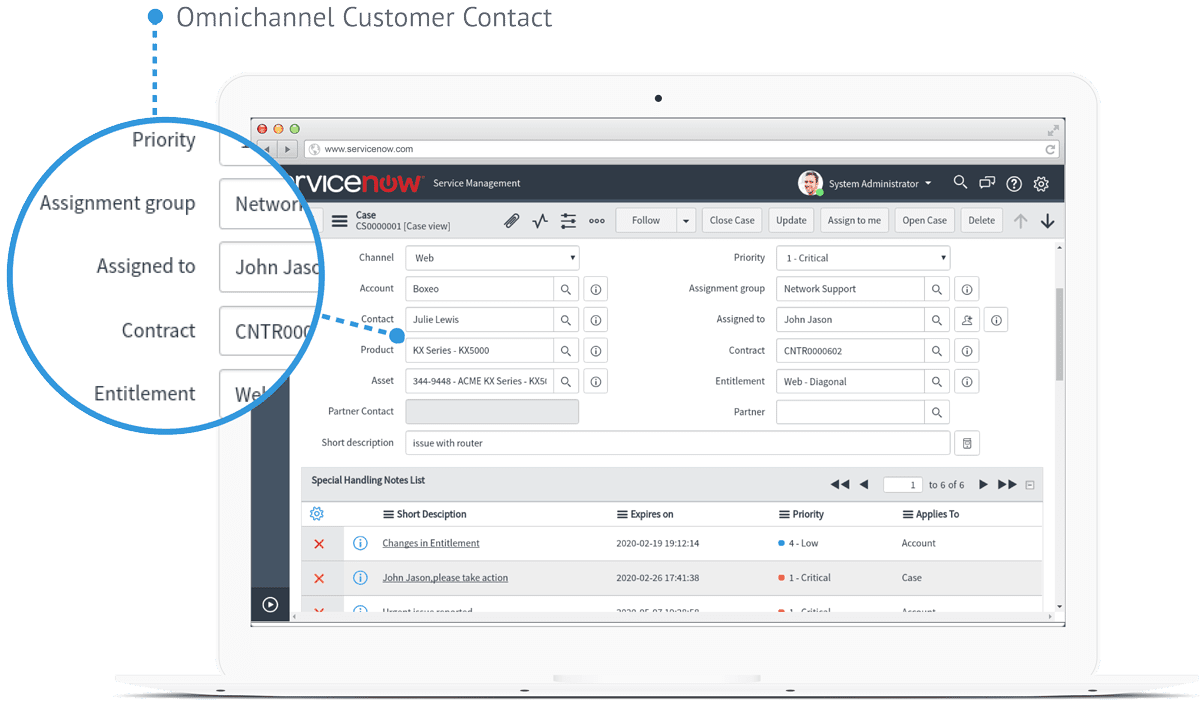 Servicenow screen first