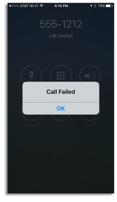 iphone call failed new